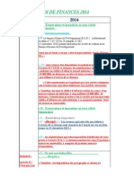 Loi de Finances 2014 Cabinet Chorfi