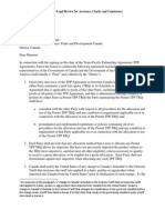 TPP Final Text US CA Letter Exchange on Agricultural Transparency