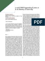 Barbey - Les Fleurs Du Mal-1868-Appendice-Lettre Et Article de Barbey d'Aurevilly