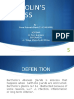 Abses Bartolini Presentasi