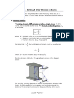 Bending and Shear Stress in Beam