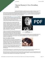 Neo freudian psychologists karen horney essay