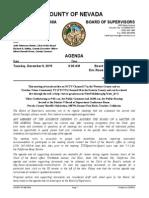 Nevada County BOS Agenda for Dec. 8, 2015