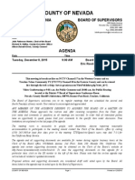 Nevada County BOS Agenda for Dec. 8, 2015