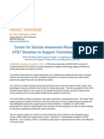 12.7.15-- AT&T Innovation Award to Center for Suicide Awareness