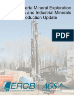 2007 Alberta Mineral Exploration Highlights and Industrial Minerals Production Update