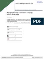 05. Managing Diversity in Education. Language, Policies, Pedagogies