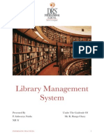 Project Report - Library Management System
