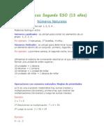Matemáticas Segundo ESO