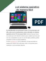 Reinstala El (SO)Sistema Operativo de Tu PC de Manera Fácil
