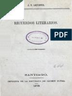 Recuerdos Literarios Lastarria