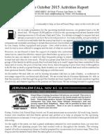 Friend Ships Activities Report - October 2015