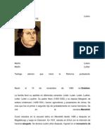 Martín Lutero Biografia
