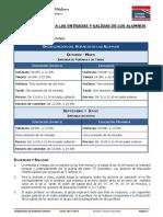 Normas Relativas a Las Entradas y Salidas de Los Alumnos