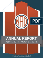 NAD 2014-2015 Annual Report
