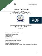 Course Outline POM MBA