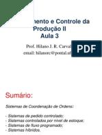 Aula 3 - Sistemas de Coordenação de Ordens - I