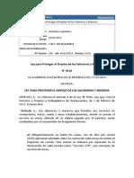 Ley 9116 - Para Proteger El Empleo de Los Saloneros y Meseros Costa Rica