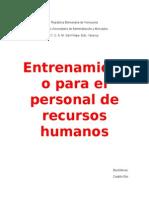 Informe de Recursos Humanos
