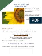 Nature, The Golden Ratio and Fibonacci Numbers