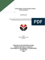 Struktur Sosial Masyarkat Desa Yogyakarta