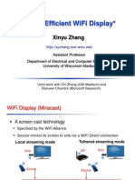 Energy Efficient WiFi Display - Xinyu Zhang