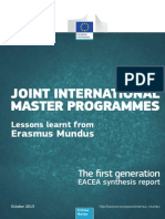 Masters Joint Erasmus Plus
