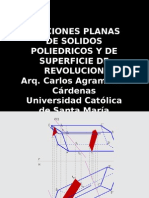 Secciones Planas de Superficies Geometricas