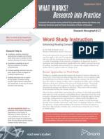 ww word study