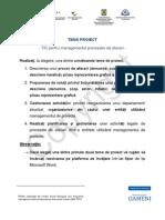 Tema Proiect Modelarea Proceselor de Afaceri