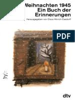 Casdorff, Claus Hinrich (Hrsg.) - Weihnachten 1945 - Ein Buch Der Erinnerungen