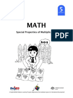 Math 5 DLP 3 - Special Properties of Multiplication