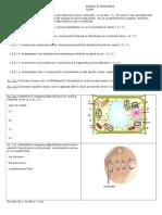 Teza Biologie_Clasa IX