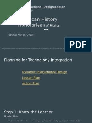 Dynamic Instructional Design Lesson Plan Action Plan Instructional Design Lesson Plan