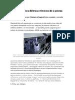 Los Fundamentos Del Mantenimiento de La Prensa Dobladora