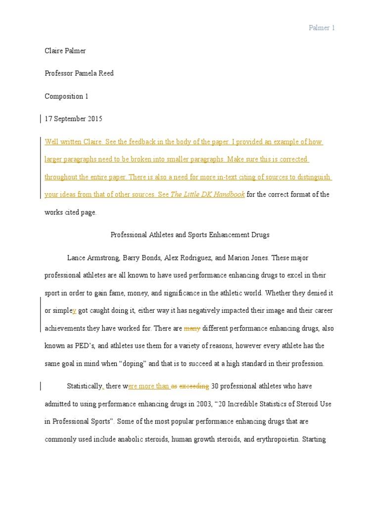 steroids essay conclusion