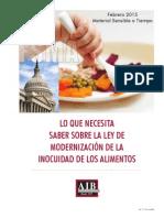 Lo que necesitas saber del  FSMA - AIB