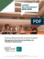 Livret Pe Dagogique Lp Mimhr 2015 2016 Version Definitive 2015