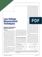 Low Level Voltage Measurements