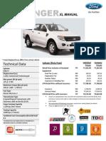 Ford Ranger XL 6 Speed MT Price List_Labuan