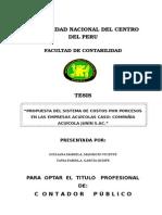 Informe de Tesis empresas acuícola