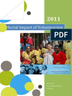 social impact of volunteerism pdf