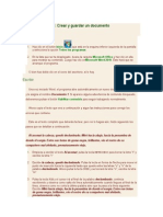 Unidad 1. Ejercicio Crear y Guardar Un Documento