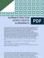 ADMINISTRACION DERECURSOS HUMANOS