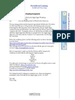 TAZ_Email Invitation & PreReading