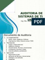 UTSV - Auditoria de Sistemas de TI Unidad 3 - 2015