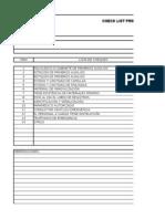 Check List de Primeros Auxilios