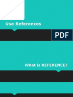 Use References in Excel