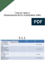 Ceklist Bab III