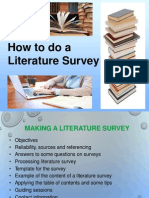How to Do a Literature Survey